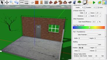 Y su uso es muy sencillo, primero seleccionas el elemento (en este caso un muro) y sobre la plataforma, dibujas con el ratón la pared (sin soltar el botón izquierdo eliges el alargo y alto de la pared).