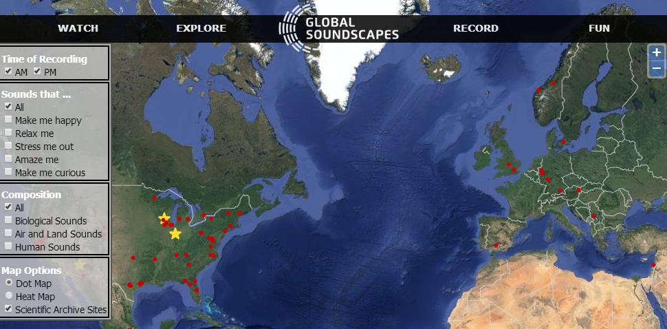 Así se ven las grabaciones de los distintos lugares del mundo