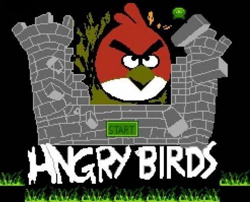 La versión pirata de Angry Birds para Famicom es horrible
