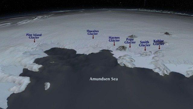 La antártida occidental correrá peligro luego de que el Thwaites desaparezca