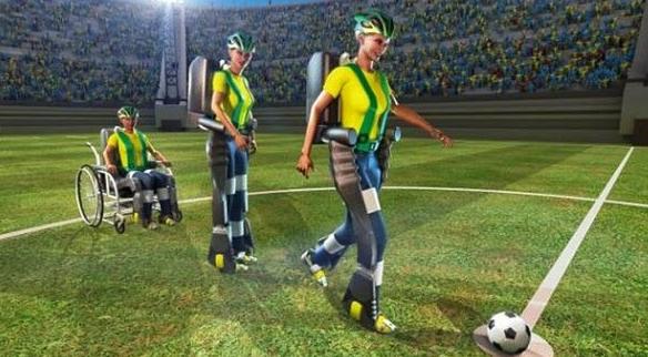 El exoesqueleto podrá levantarse, caminar y golpear el balón (todo lo necesario para dar el saque de honor),