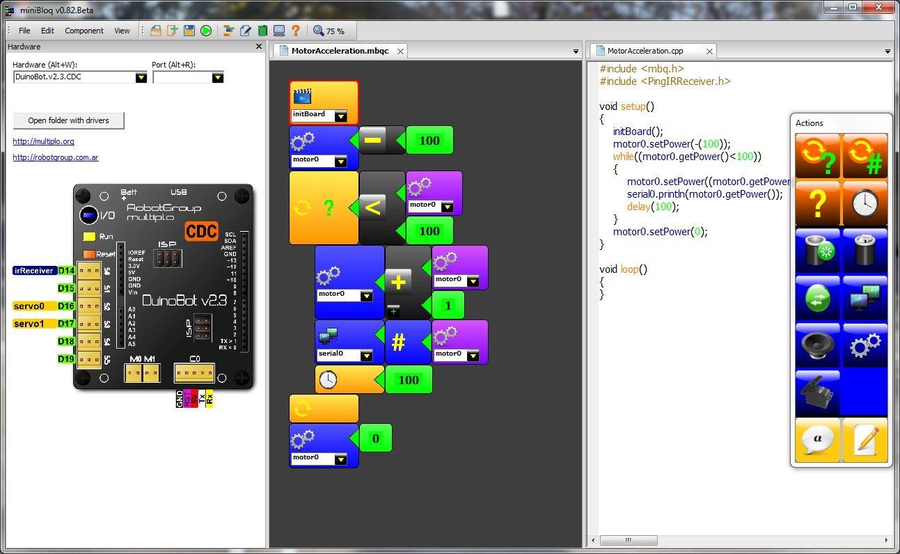 IDE para programar robots
