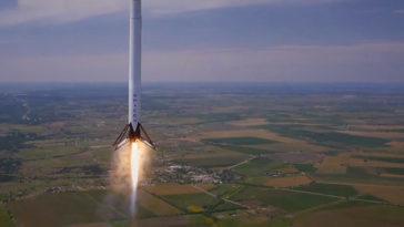 Spacex llevó su Falcon 9 a 1000 metros y lo trajo de vuelta