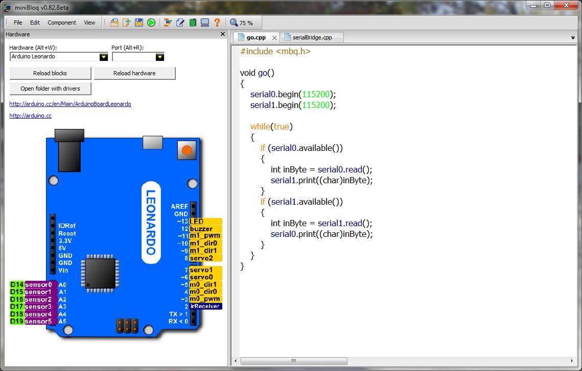 Entorno gráfico combinado con programación