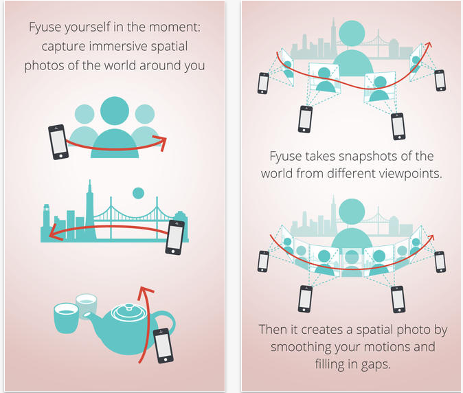 La aplicación te explica cómo tomar fotografías espaciales