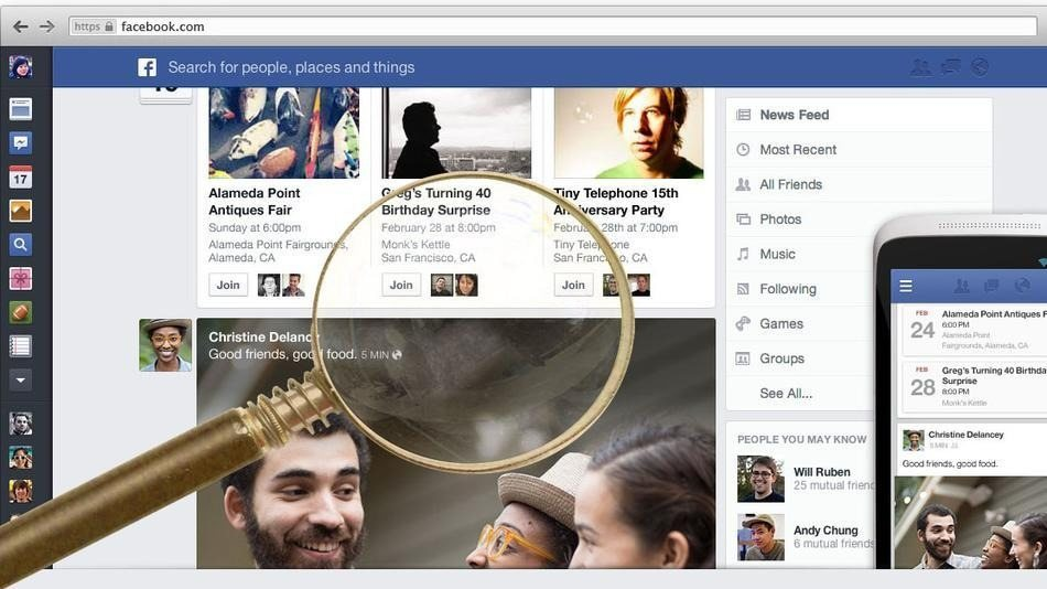 Facebook poniendo la lupa en lo que hacemos
