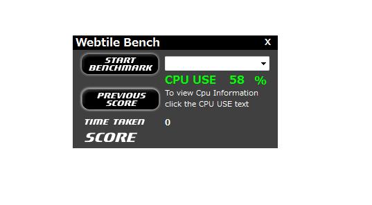 Webtile Bench Mark