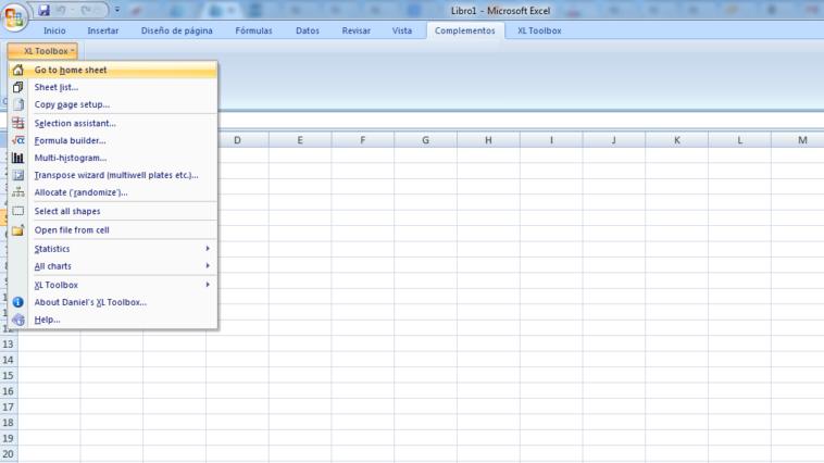 """Al abrir Excel tendrás que configurar la extensión, y la encontrarás en la pestaña """"Complementos"""","""