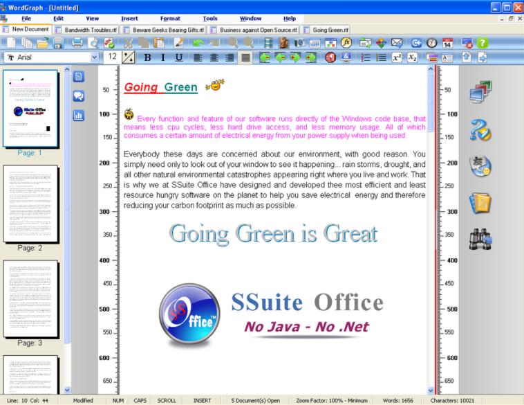 Con WordGraph podrás crear documentos de textos, insertar hipervínculos, usar su corrector ortográfico, insertar tablas