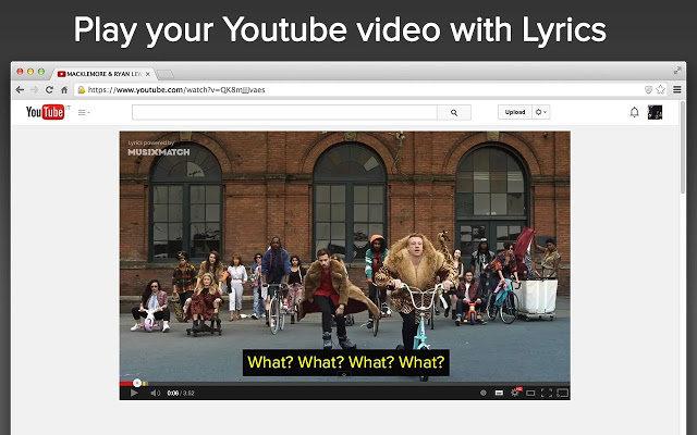MusixMatch te permite reproducir un vídeo musical con la letra de la canción en pantalla