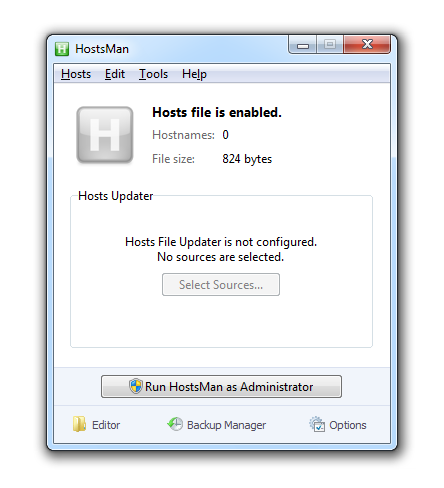 Administra los archivos HOSTS de forma sencilla
