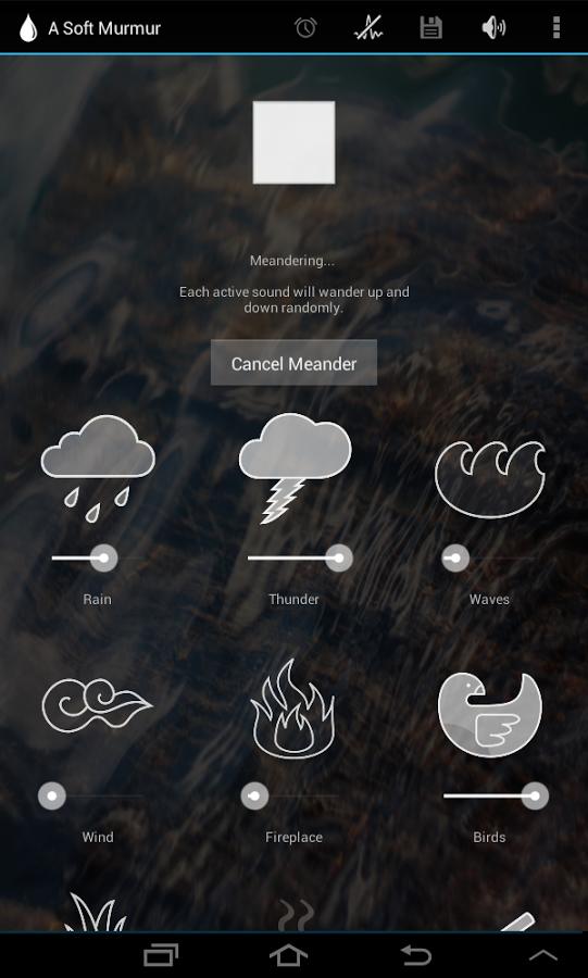 A Soft Murmur también está disponible como una aplicación en dispositivos Android
