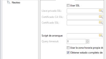 """Una vez creada el nombre de la conexión base de datos, tendrás que colocar el """"Tipo de red"""","""