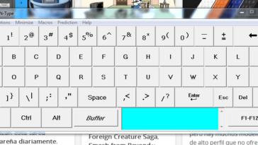 Una vez descargada la aplicación desde su página oficial, observarás que el teclado se desplegará en tu pantalla