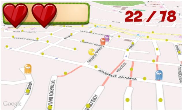 PacMap utiliza las calles de OpenStreetMap como escenario