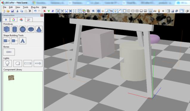 La interfaz de 3DCrafter es muy sencilla de comprender, en el centro encontrarás el área de trabajo, a la izquierda todo para las contracción de tu animación