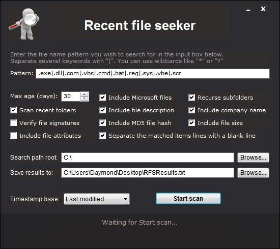 Recent File Seeker