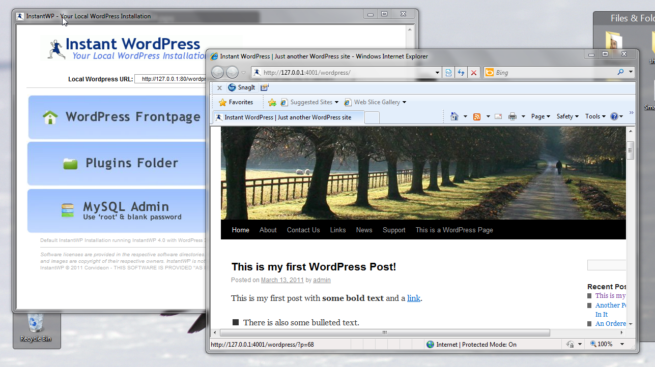 Instant WordPress