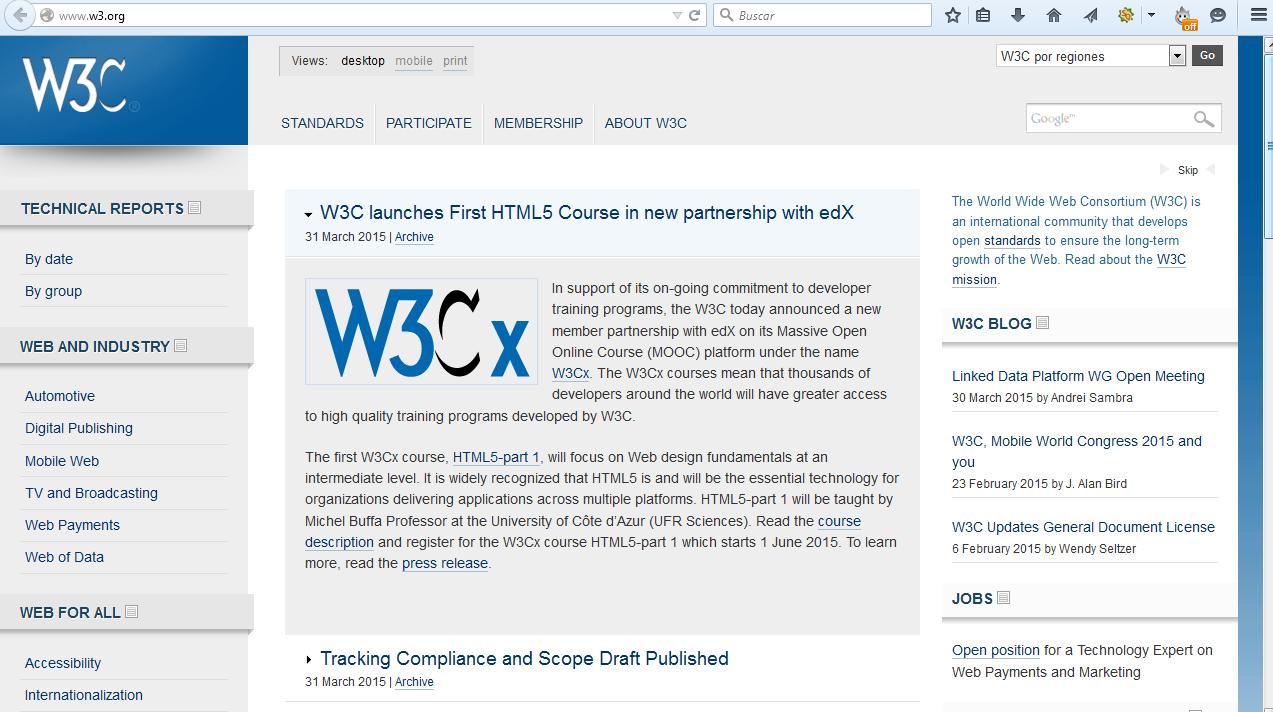 En el año 1994 se traslada a los EE.UU. (Massachusetts Institute of Technology) y se pone al mando de la W3C