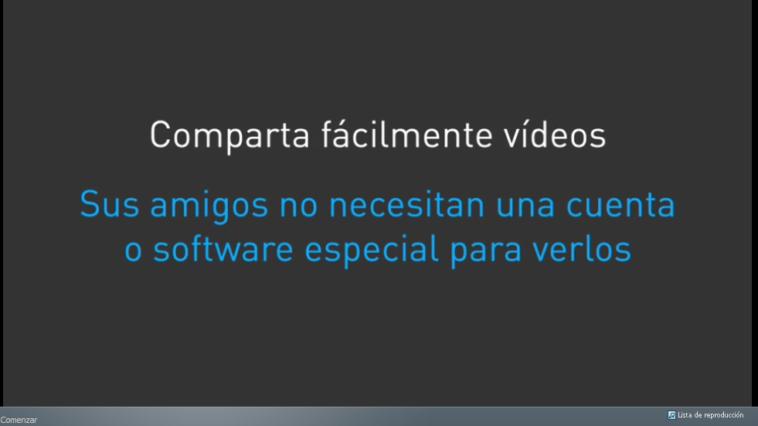 Dicho almacenamiento se puede aumentar mediante la invitación de amigos al servicio (1GB), mediante la opción de compartir y añadir el primer vídeo (250MB)