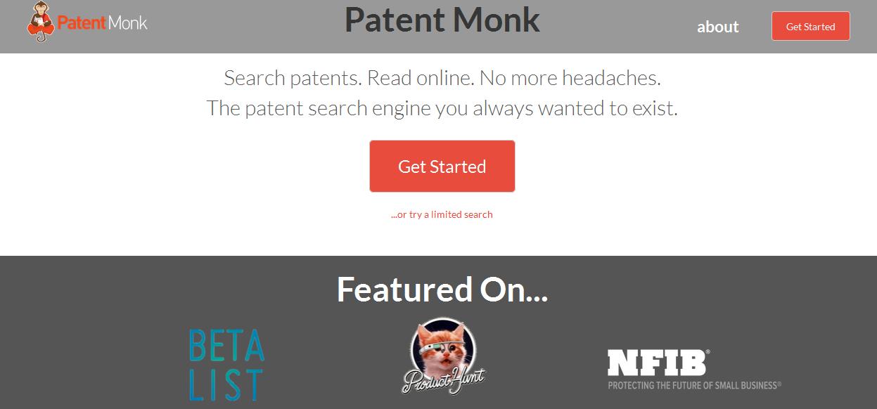 Patent Monk es un potente motor de búsquedas de patentes de cualquier lugar del mundo