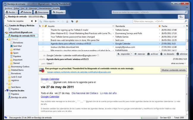 El correo electrónico no se puede enviar entre ordenadores. Cuando una persona escribe un correo necesita una aplicación (Outlook o Mozilla Thunderbird) o un servicio web