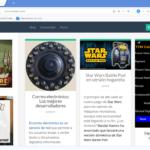 Una vez descargad la aplicación desde su página oficial, observarás su interfaz muy parecida al navegador Google Chrome