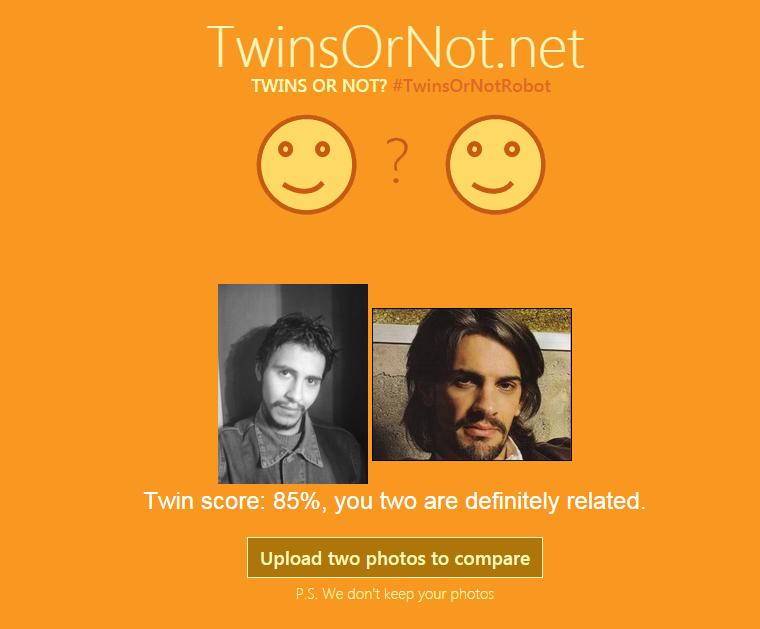 Según el análisis Pablito y yo somos parientes