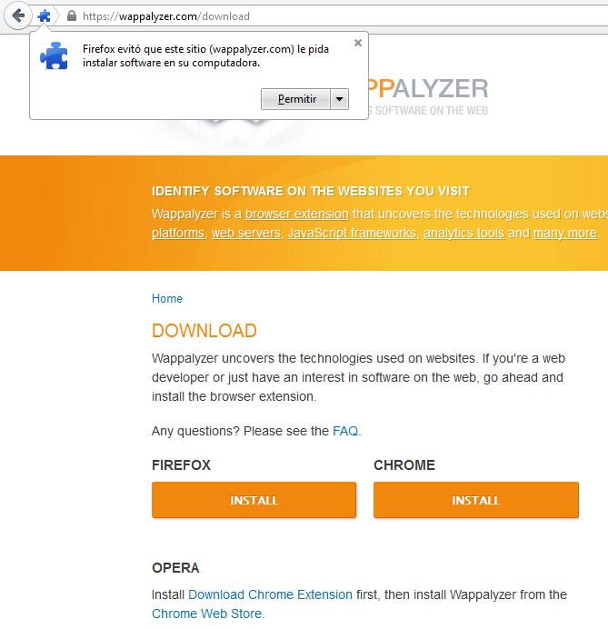 Existen varias herramientas para estudiar la competencia, pero en este caso te hablaremos de Wappalyzer, una extensión que te permite saber que tecnología web usan tus competidores