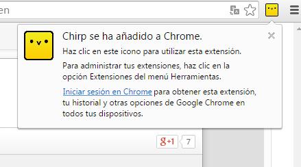 Con Chirp podrás compartir texto, vínculos o imágenes que selecciones desde tu navegador web