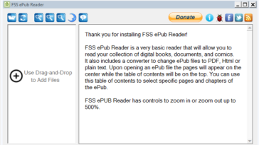 FSS ePub Reader es una sencilla aplicación para leer publicaciones electrónicas (ePub). La utilidad ofrece las opciones básicas de lectura