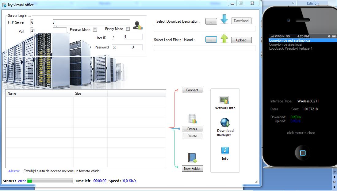 Realmente Ivy Virtual Office es una muy buen opción para la transferencia de archivos de forma sencilla