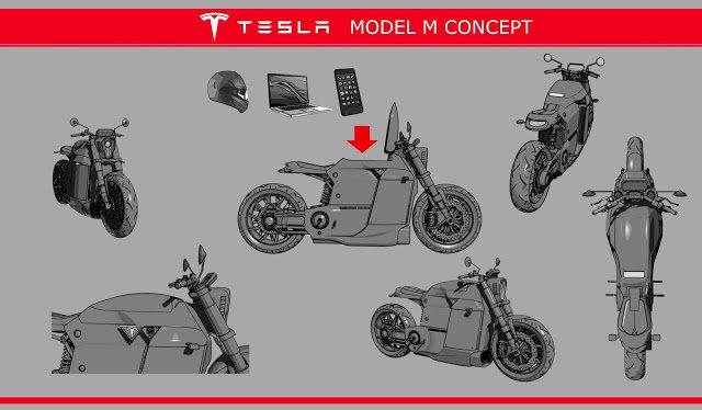 El concepto de Tesla Model M a cargo de Slapins