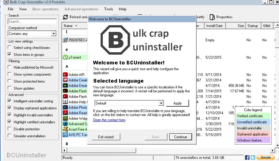 Bulk Crap Uninstaller: Desinstala aplicaciones en lote - NeoTeo