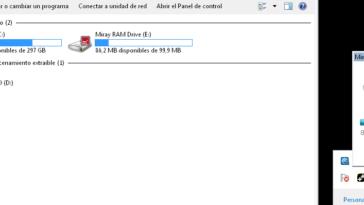 En ese momento la plataforma comenzará a crear el disco virtual, sacando los Mega bytes de tu memoria RAM