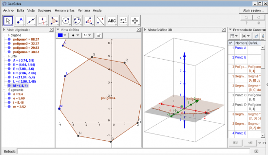 Sus vistas te permiten ver los gráficos en 3D, obtener una vista algebraica