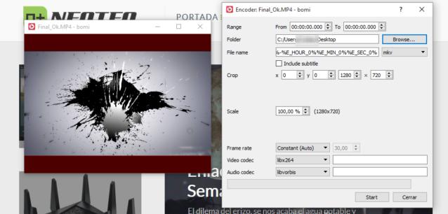 Ahora podrás personalizar el formato de salida, el rango de tiempo del loop, el tamaño, incluir subtítulos