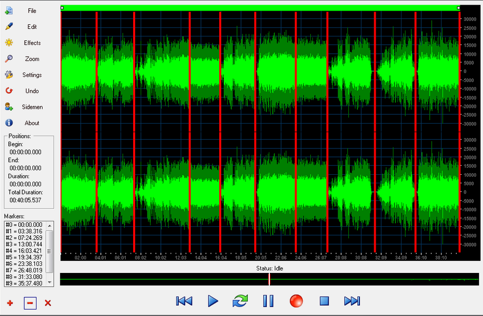 Interfaz similar a otros editores de audio