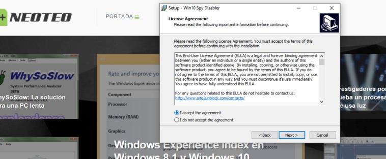 Windows 10 una fuente de intrusismo