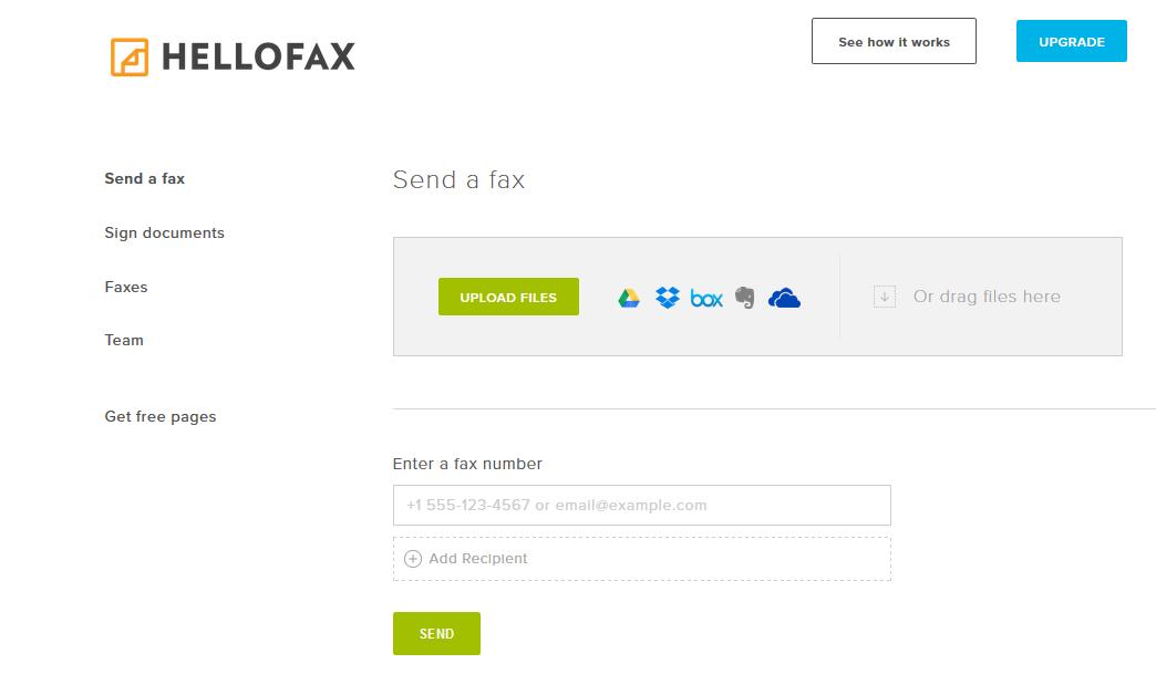 En su versión gratuita solo podrás enviar faxes