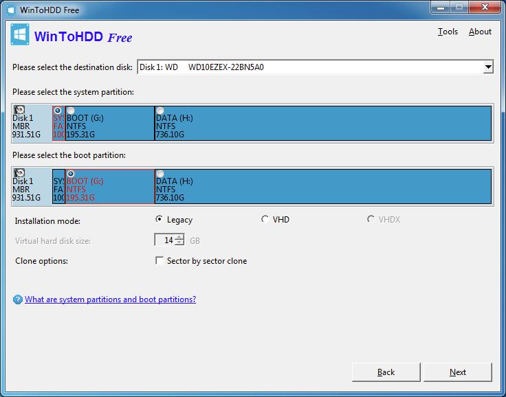 WinToHDD: Instala Windows desde el disco duro
