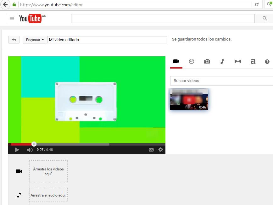 Editar los vídeos de tu canal