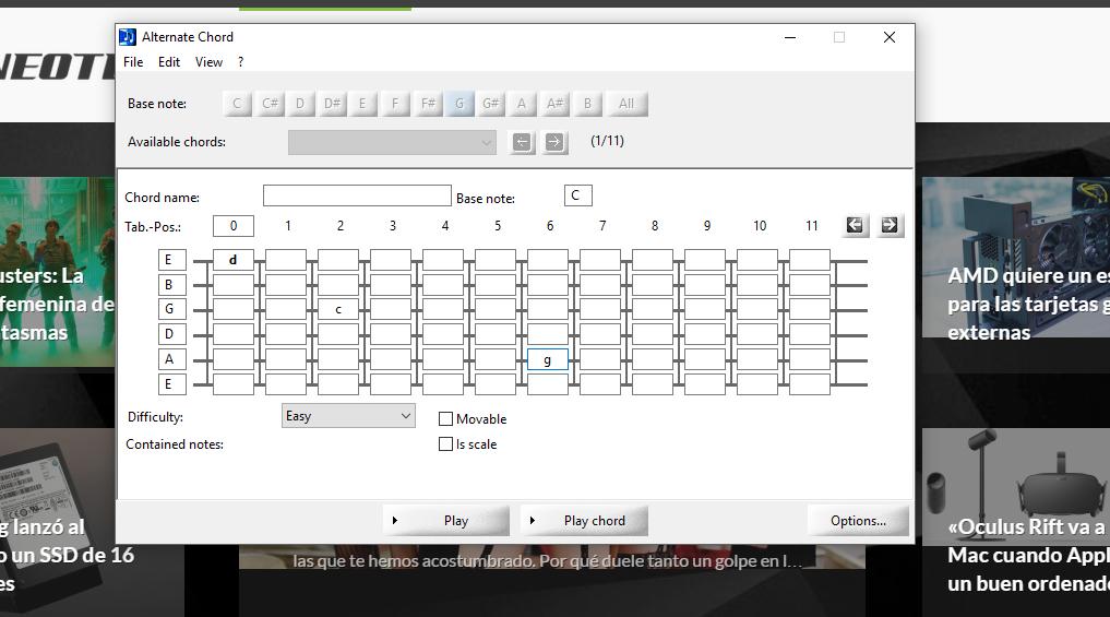 Alternate chord programa para practicar con tu guitarra for Programa para hacer planos a escala
