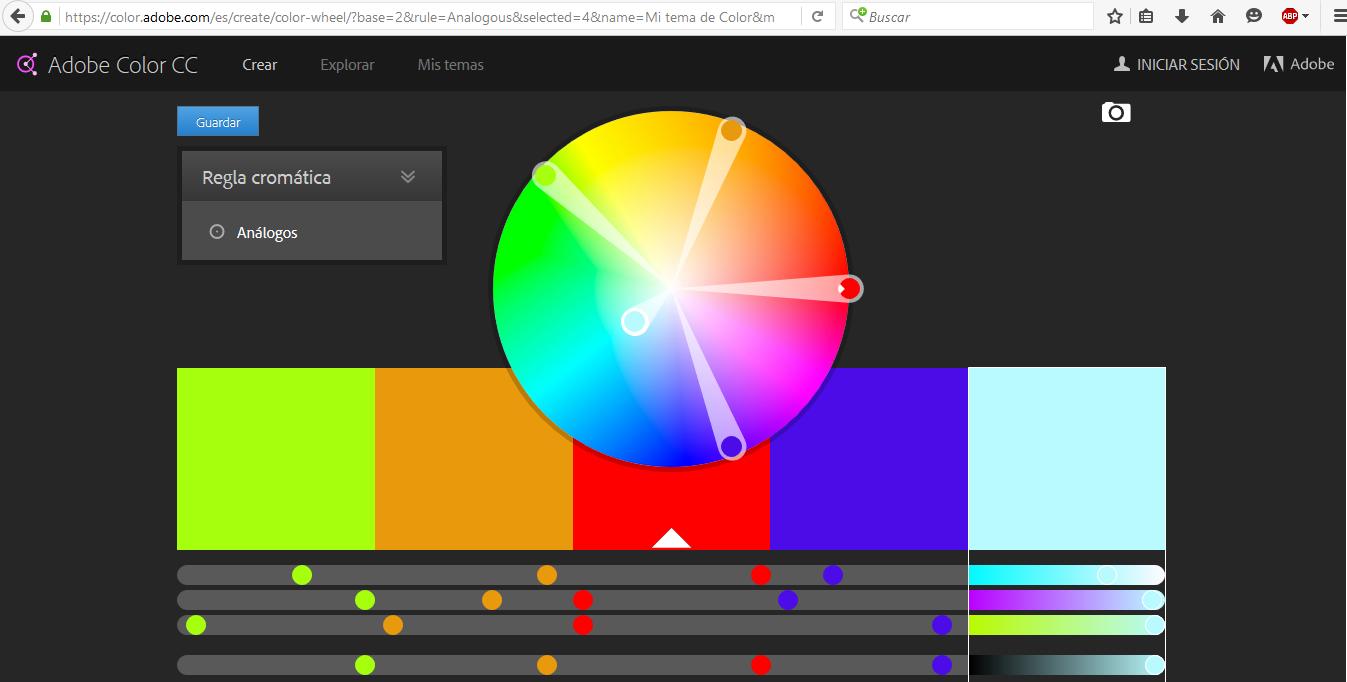 Crea combinaciones de colores