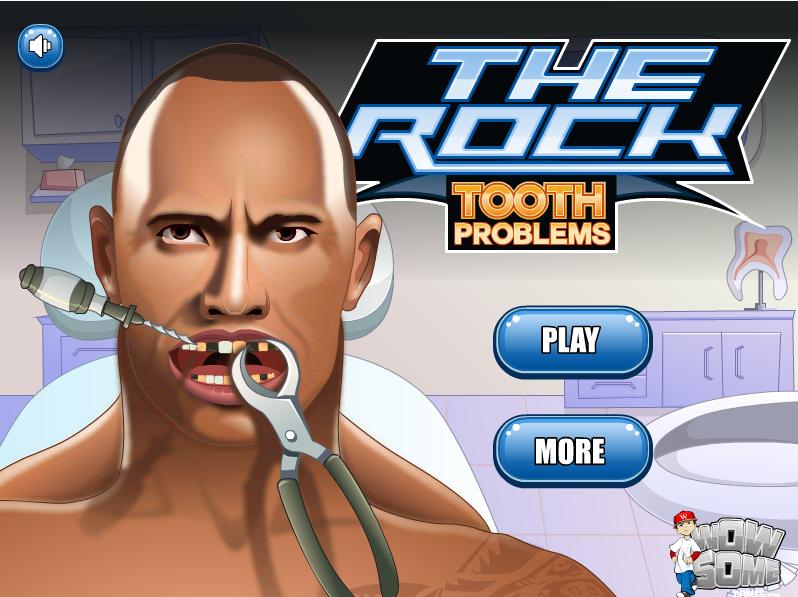 Los problemas dentales de The Rock (clic en la imagen para jugar)