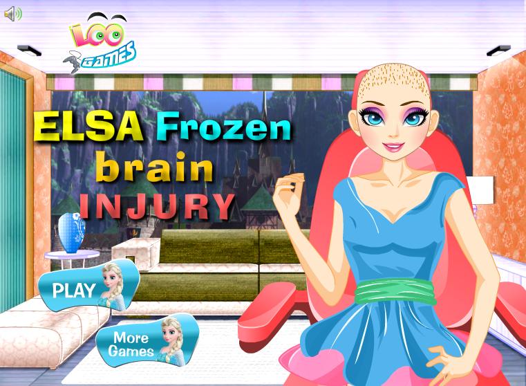 La operación de cerebro de Elsa Frozen (clic en la imagen para jugar)