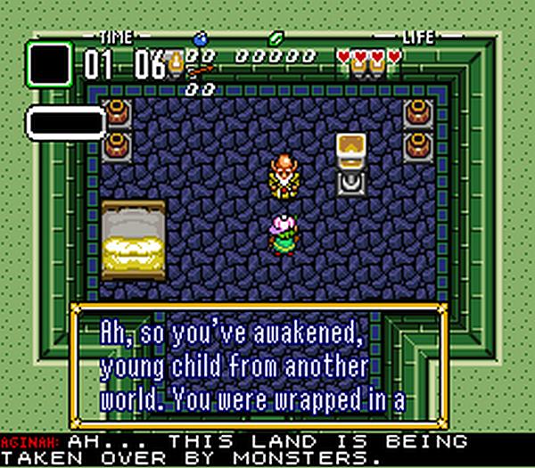 En el ROM traducido, las locuciones de voz se pueden leer traducidas debajo de la pantalla.