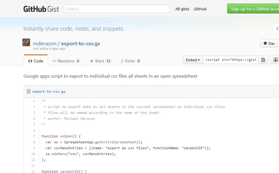 Exportar Google Sheet a CVS