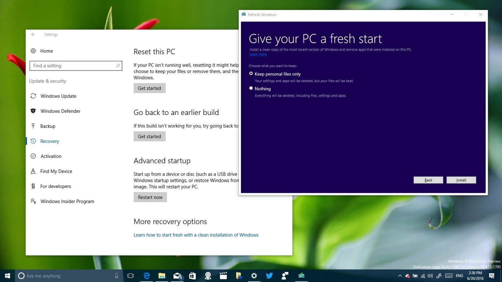 Windows 10 Refresh Tool vuelve a cero tu sistema operativo, sin el bloatware