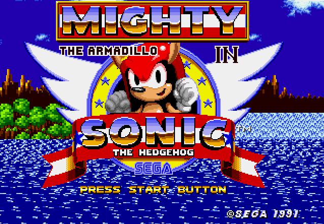 Mighty es un armadillo del universo de Sonic, que también está disponible para jugar en las modificaciones hecjhas por fans